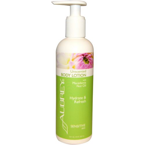 Aubrey Organics, Body Lotion with Macadamia Nut Oil, Unscented, 8 fl oz (237 ml) فوائد