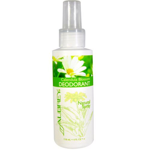 Aubrey Organics, Calendula Blossom Deodorant, Natural Spray, 4 fl oz (118 ml) فوائد