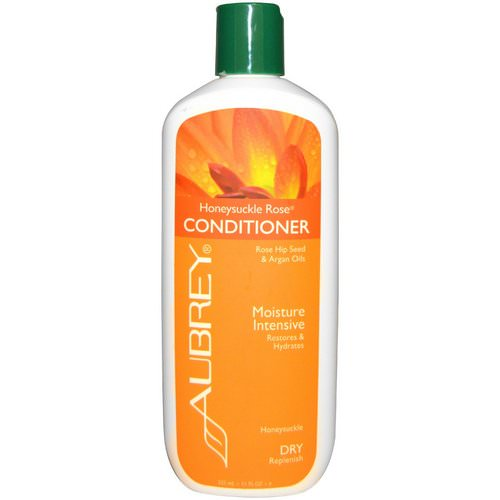 Aubrey Organics, Honeysuckle Rose Conditioner, Restores & Hydrates, Dry Hair, 11 fl oz (325 ml) فوائد