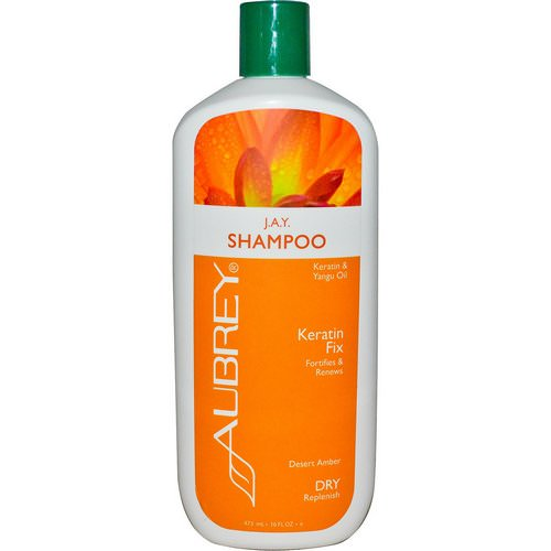 Aubrey Organics, J.A.Y. Shampoo, Keratin Fix, Dry/Replenish, 16 fl oz (473 ml) فوائد