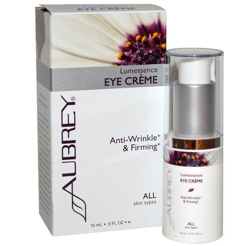 Aubrey Organics, Lumessence Eye Cream, All Skin Types, .5 fl oz (15 ml) فوائد