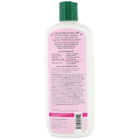 Aubrey Organics, Rosa Mosqueta Conditioner, Vibrant Hydration, Harvest Apple, 11 fl oz (325 ml):بلسم, العناية بالشعر