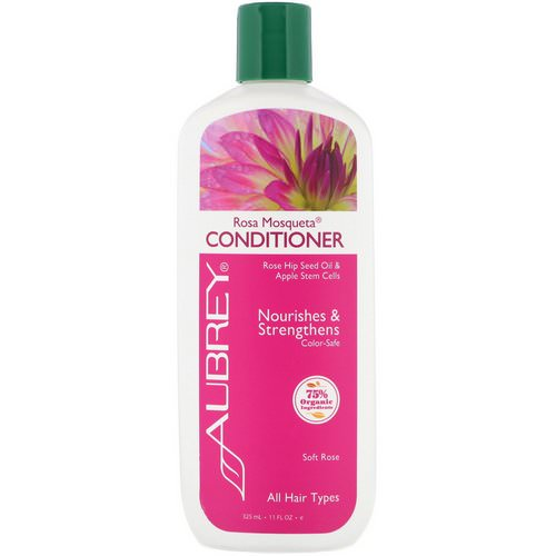 Aubrey Organics, Rosa Mosqueta Conditioner, Vibrant Hydration, Harvest Apple, 11 fl oz (325 ml) فوائد