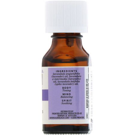 Aura Cacia, 100% Pure Essential Oils, Lavender Harvest, 0.5 fl oz (15 ml):الاسترخاء, زيت اللافندر