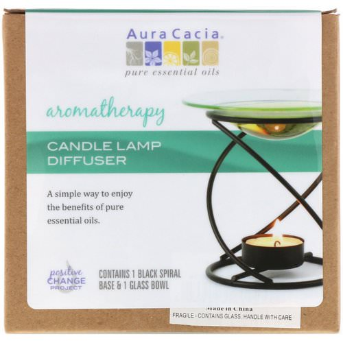 Aura Cacia, Aromatherapy Candle Lamp Diffuser, 2 Piece فوائد