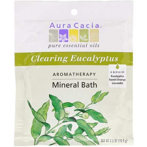 Aura Cacia, Aromatherapy Mineral Bath, Clearing Eucalyptus, 2.5 oz (70.9 g) فوائد