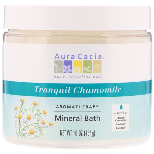Aura Cacia, Aromatherapy Mineral Bath, Tranquil Chamomile, 16 oz (454 g) فوائد