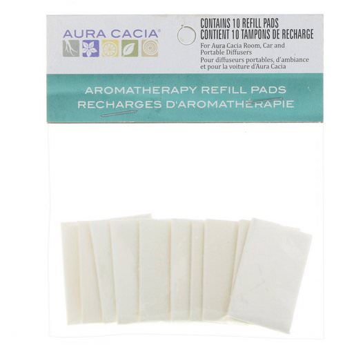 Aura Cacia, Aromatherapy Refill Pads, 10 Refill Pads فوائد