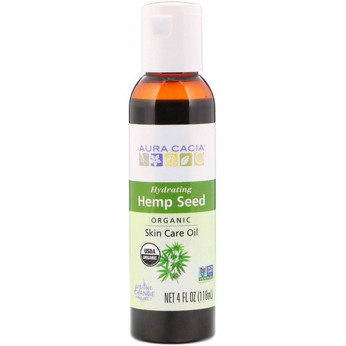 Aura Cacia, Organic, Skin Care Oil, Hemp Seed, 4 fl oz (118 ml) فوائد