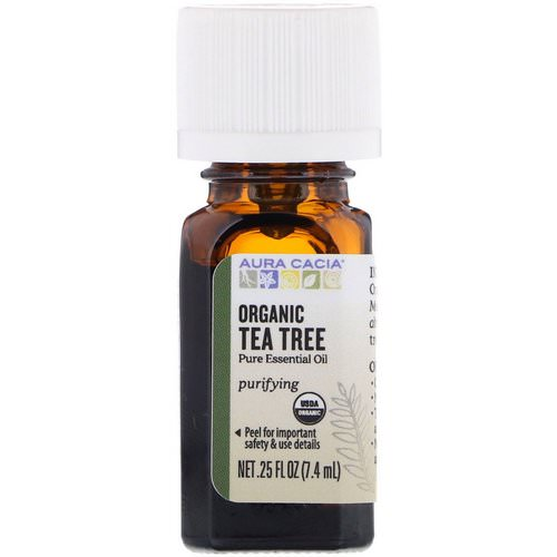 Aura Cacia, Organic Tea Tree, 0.25 fl oz (7.4 ml) فوائد