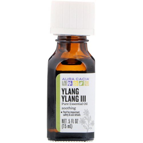 Aura Cacia, Pure Essential Oil, Ylang Ylang III, .5 fl oz (15 ml) فوائد