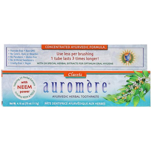 Auromere, Ayurvedic Herbal Toothpaste, Classic, 4.16 oz (117 g) فوائد