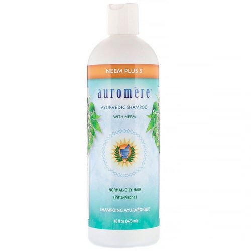 Auromere, Ayurvedic Shampoo with Neem, Neem Plus 5, 16 fl oz (473 ml) فوائد