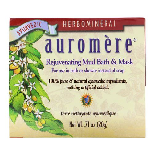 Auromere, Rejuvenating Mud Bath & Mask, .71 oz (20 g) فوائد