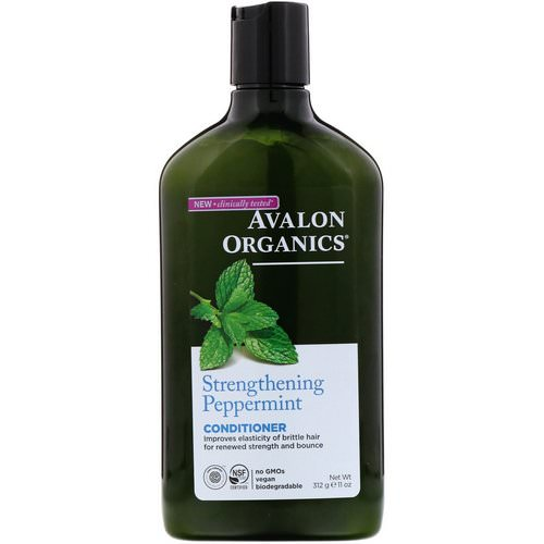 Avalon Organics, Conditioner, Strengthening Peppermint, 11 fl oz (312 ml) فوائد