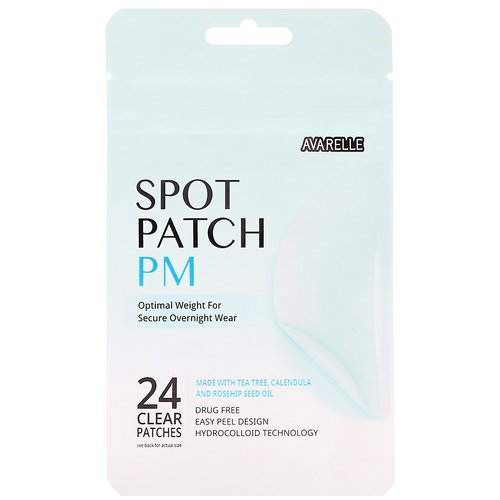Avarelle, Spot Patch PM, 24 Clear Patches فوائد