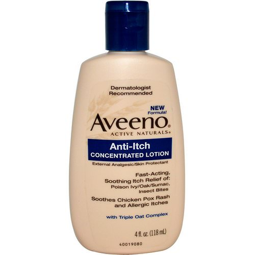 Aveeno, Active Naturals, Anti-Itch Concentrated Lotion, 4 fl oz (118 ml) فوائد