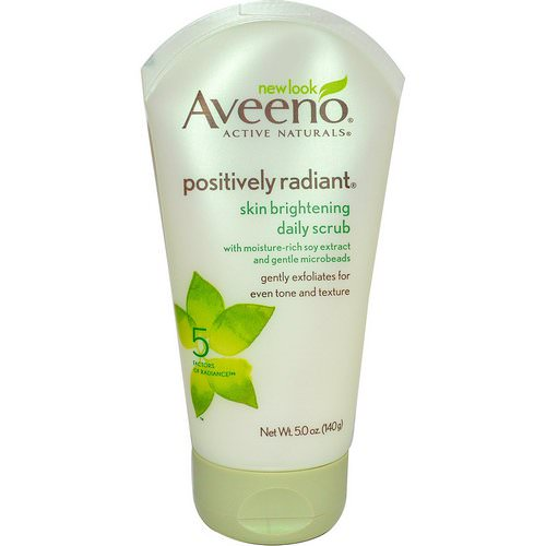 Aveeno, Active Naturals, Positively Radiant, Skin Brightening Daily Scrub, 5.0 oz (140 g) فوائد