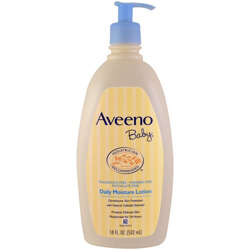 Aveeno, Baby, Daily Moisture Lotion, Fragrance Free, 18 fl oz (532 ml) فوائد