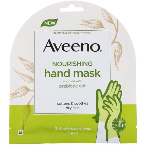 Aveeno, Nourishing Hand Mask, 2 Single-Use Gloves فوائد