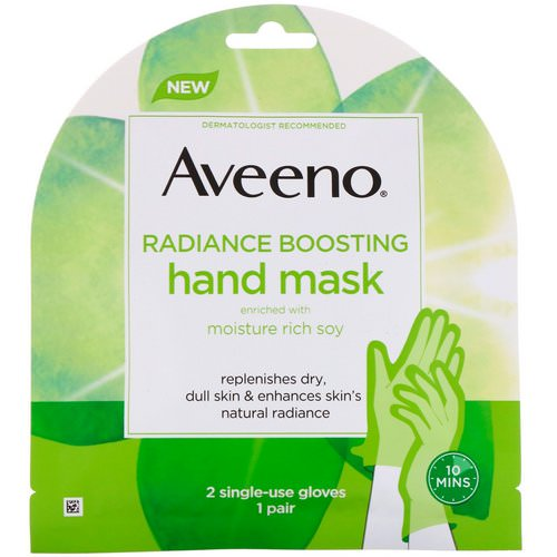 Aveeno, Radiance Boosting Hand Mask, 2 Single-Use Gloves فوائد