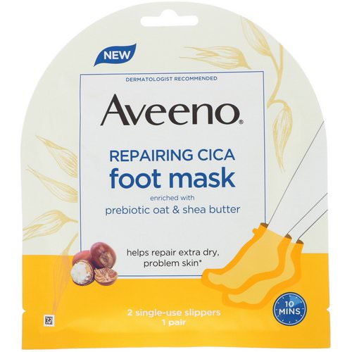 Aveeno, Repairing Cica Foot Mask, 2 Single-Use Slippers فوائد