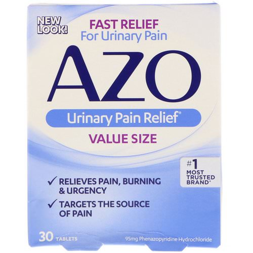 Azo, Urinary Pain Relief, 30 Tablets فوائد