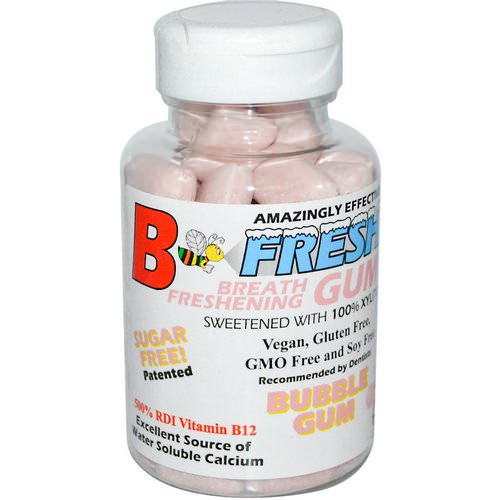 B-Fresh, Breath Freshening Gum, Bubble Gum, 50 Pieces فوائد