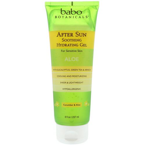 Babo Botanicals, After Sun, Soothing Hydrating Gel, Cucumber & Aloe, 8 fl oz (237 ml) فوائد