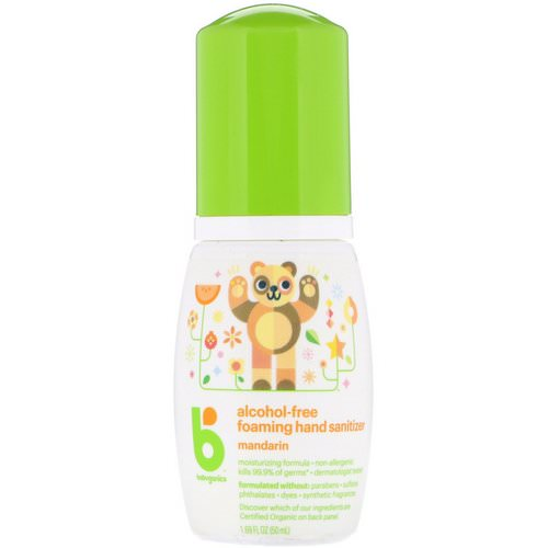 BabyGanics, Alcohol-Free, Foaming Hand Sanitizer, Mandarin, 1.69 oz (50 ml) فوائد
