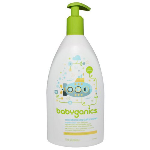 BabyGanics, Moisturizing Daily Lotion, Fragrance Free, 17 fl oz (502 ml) فوائد