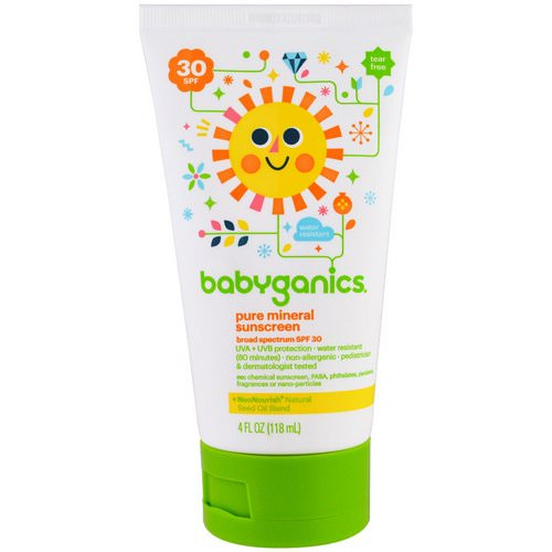 BabyGanics, Pure Mineral Sunscreen Lotion, SPF 30, 4 oz (118 ml) فوائد