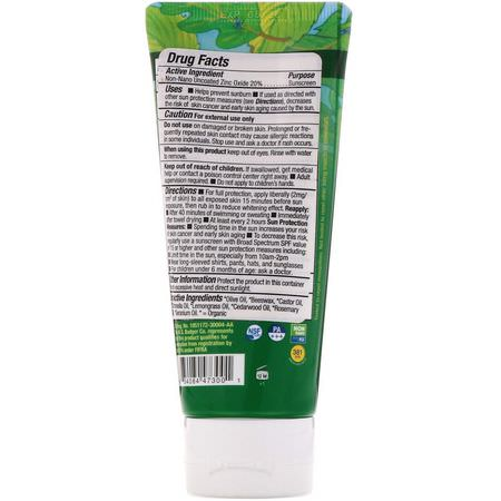 Badger Company, Anti-Bug Sunscreen, SPF 34 PA+++, Citronella & Cedar, 2.9 fl oz (87 ml):طارد الحشرات, علة