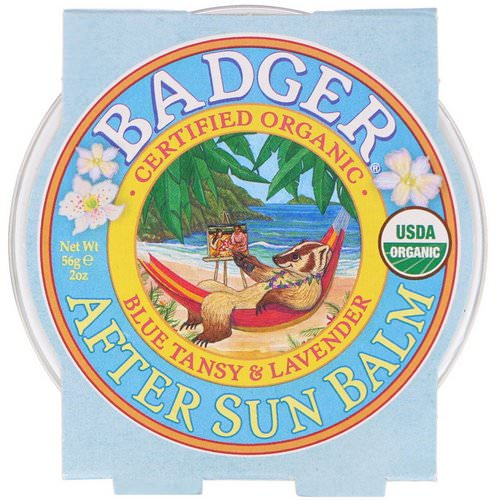 Badger Company, Organic, After Sun Balm, Blue Tansy & Lavender, 2 oz (56 g) فوائد
