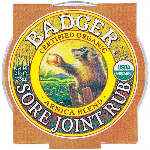 Badger Company, Organic, Sore Joint Rub, Arnica Blend, .75 oz (21 g) فوائد