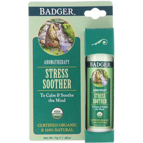 Badger Company, Stress Soother, Tangerine & Rosemary, .60 oz (17 g) فوائد