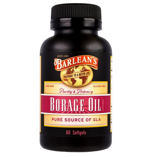 Barlean's, Borage Oil, 60 Softgels فوائد