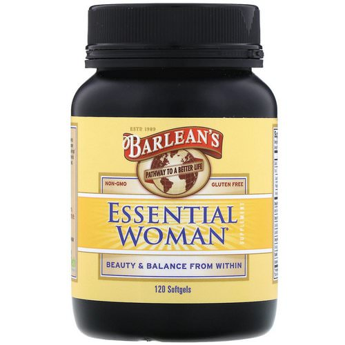 Barlean's, Essential Woman Supplement, 120 Softgels فوائد