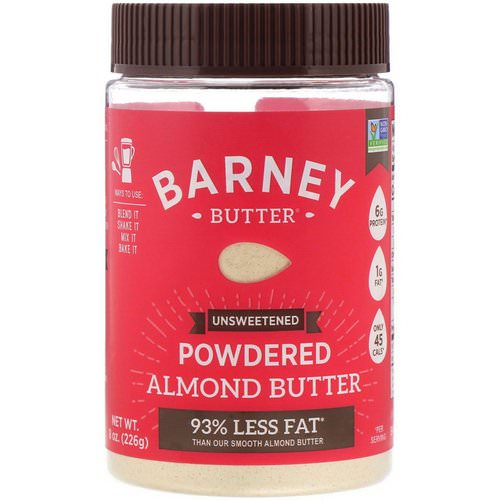 Barney Butter, Powdered Almond Butter, Unsweetened, 8 oz (226 g) فوائد