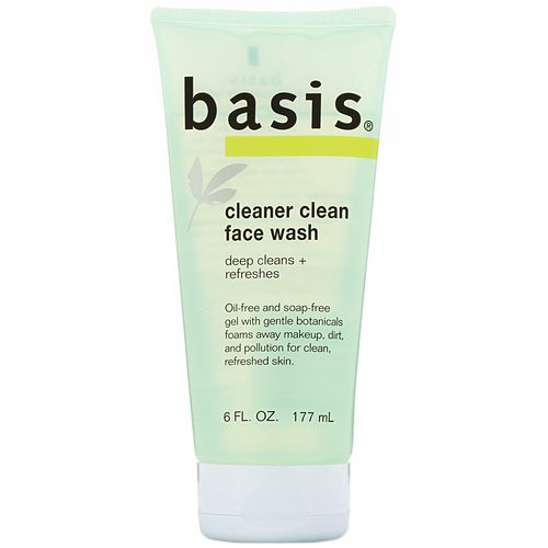 Basis, Cleaner Clean Face Wash, 6 fl oz (177 ml) فوائد