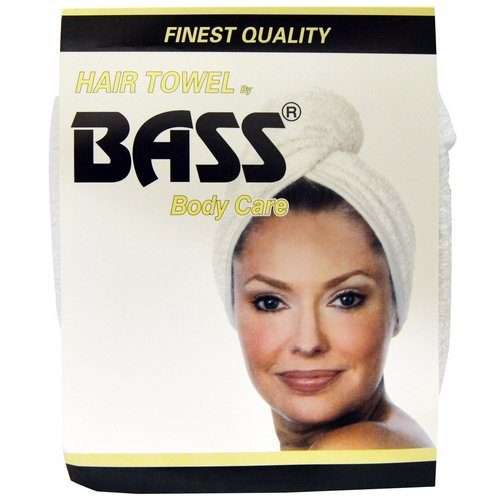 Bass Brushes, Super Absorbent Hair Towel, White, 1 Piece فوائد