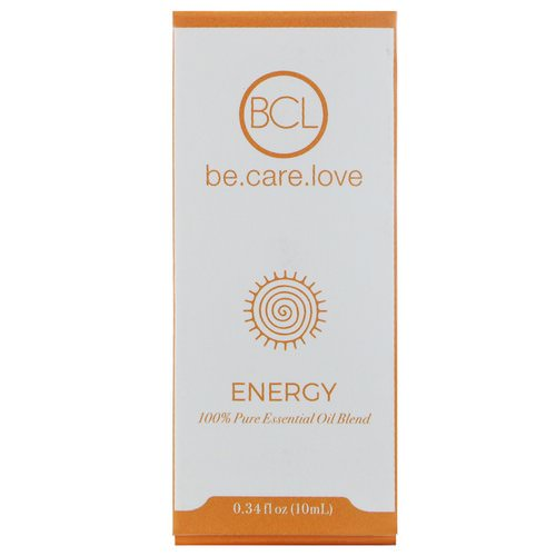 BCL, Be Care Love, 100% Pure Essential Oil Blend, Energy, 0.34 fl oz (10 ml) فوائد