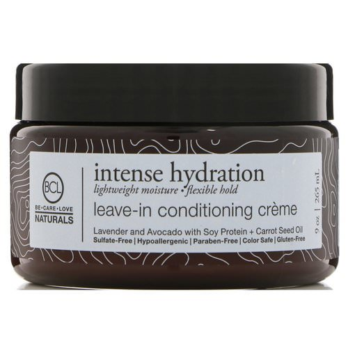 BCL, Be Care Love, Naturals, Intense Hydration, Leave-In Conditioning Cream, 9 oz (265 ml) فوائد