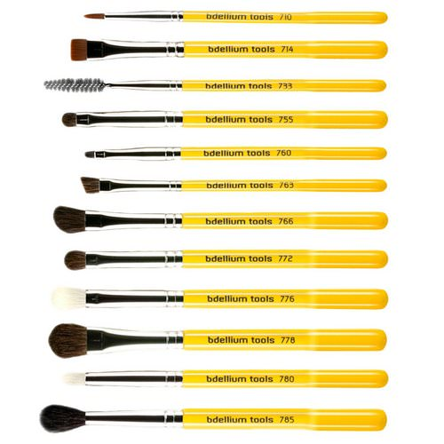 Bdellium Tools, Studio Line, Eyes Brush Set and Pouch, 12 Pc Set فوائد