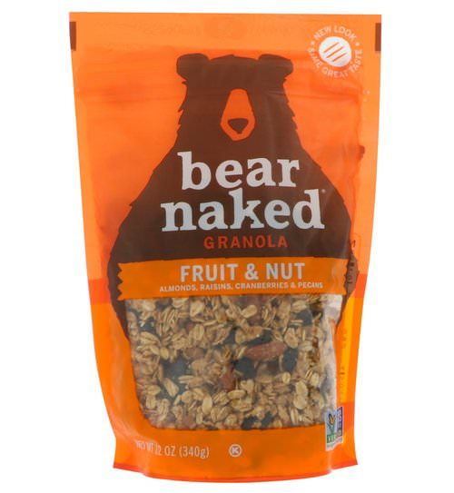 Bear Naked, 100% Pure & Natural Granola, Fruit and Nut, 12 oz (340 g) فوائد