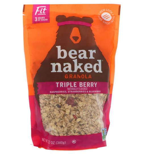 Bear Naked, Fit, Granola, Triple Berry, 12 oz (340 g) فوائد