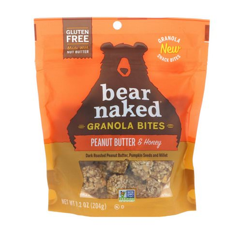 Bear Naked, Granola Bites, Peanut Butter & Honey, 7.2 oz (204 g) فوائد