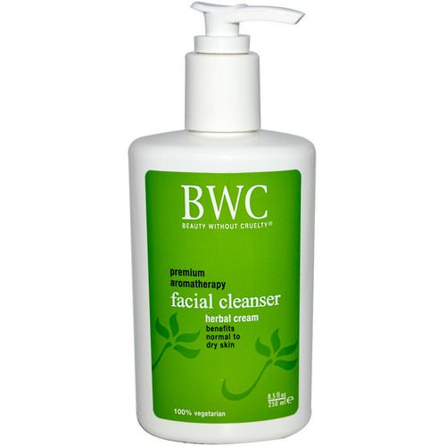 Beauty Without Cruelty, Facial Cleanser, Herbal Cream, 8.5 fl oz (250 ml) فوائد