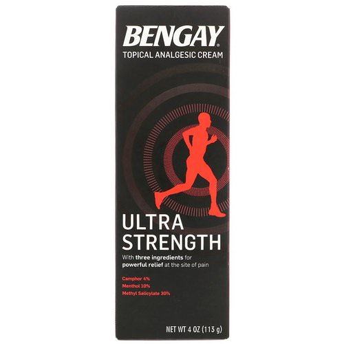 Bengay, Topical Analgesic Cream, Ultra Strength, 4 oz (113 g) فوائد