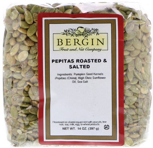 Bergin Fruit and Nut Company, Pepitas Roasted & Salted, 14 oz (397 g) فوائد